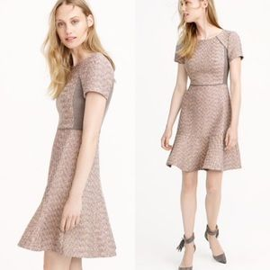 J. Crew Mixed Metallic Tweed Dress Size 10